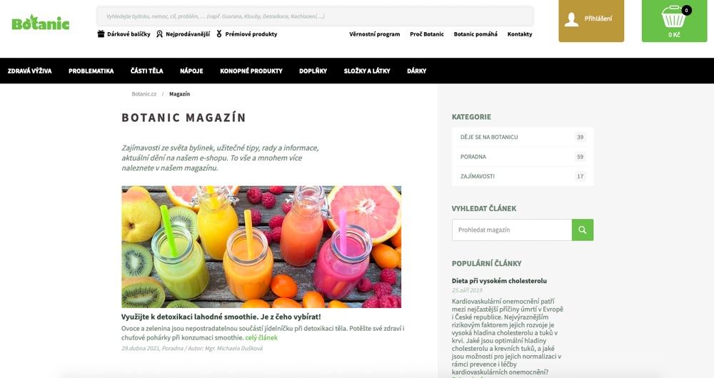 botanic magazín