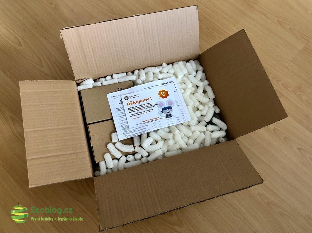 nutsman rozbalená krabice