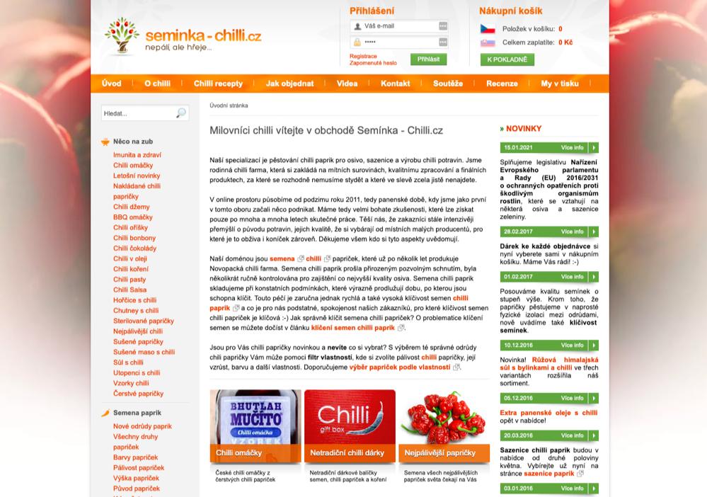 semínka chilli homepage