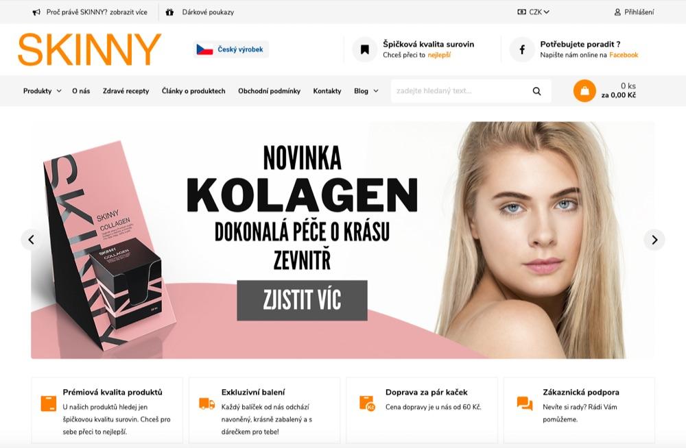 skinny homepage