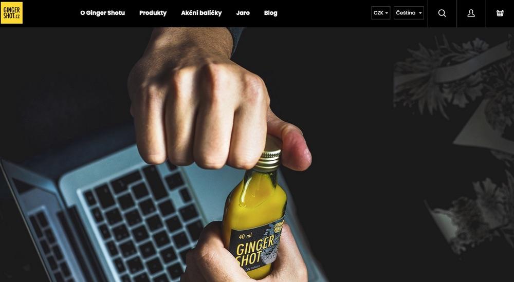 ginger shot homepage