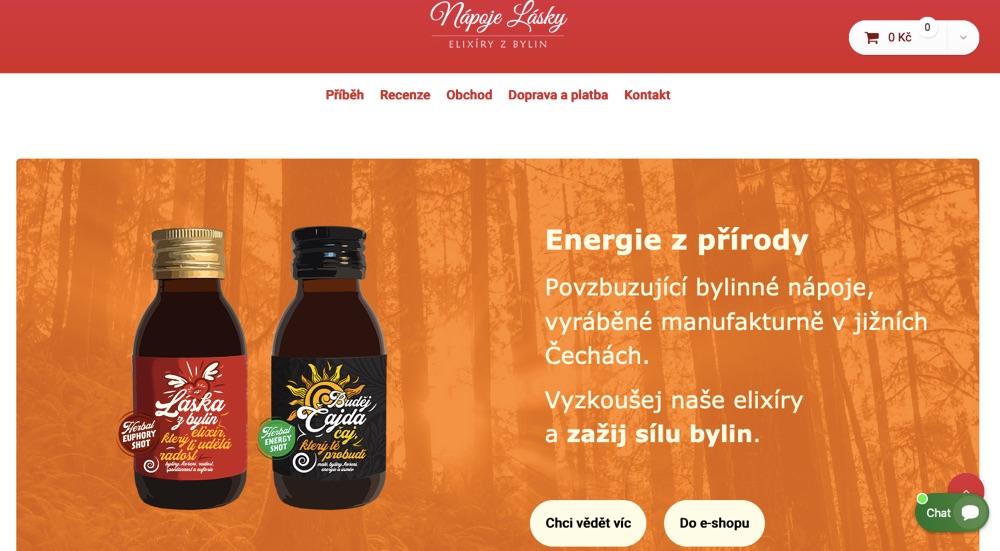 nápoje lásky homepage