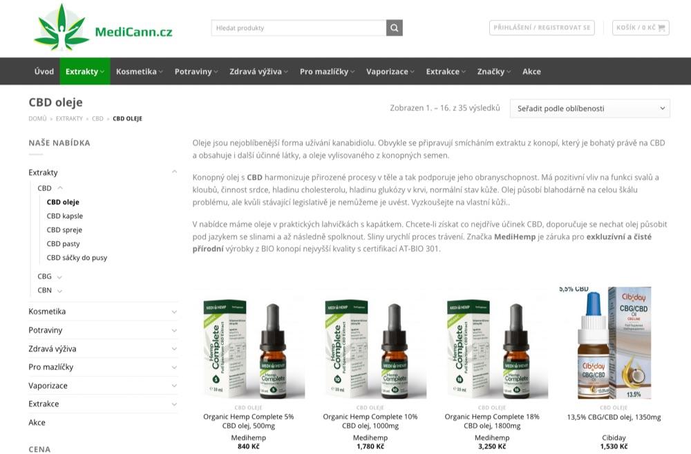 medicann medihemp cbd oleje