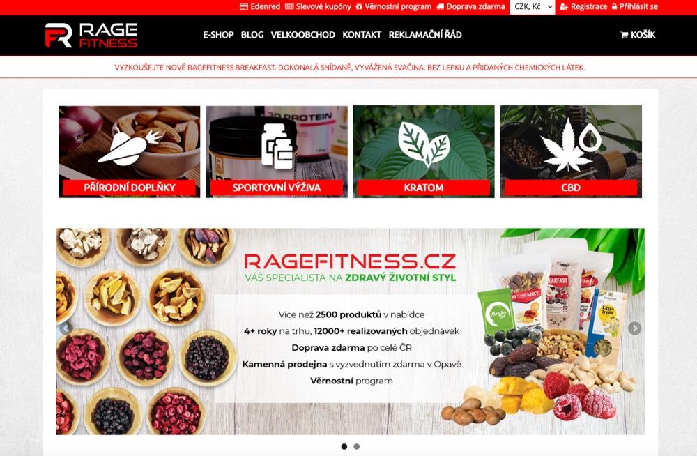 ragefitness homepage