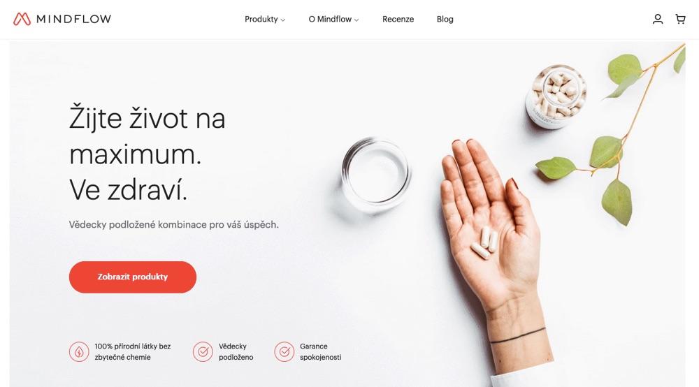 mindflow cbd homepage