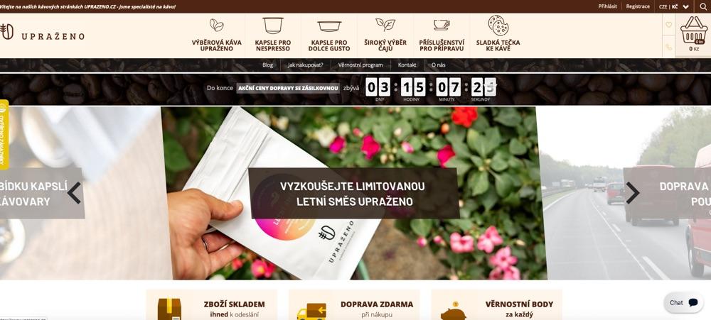 upraženo homepage