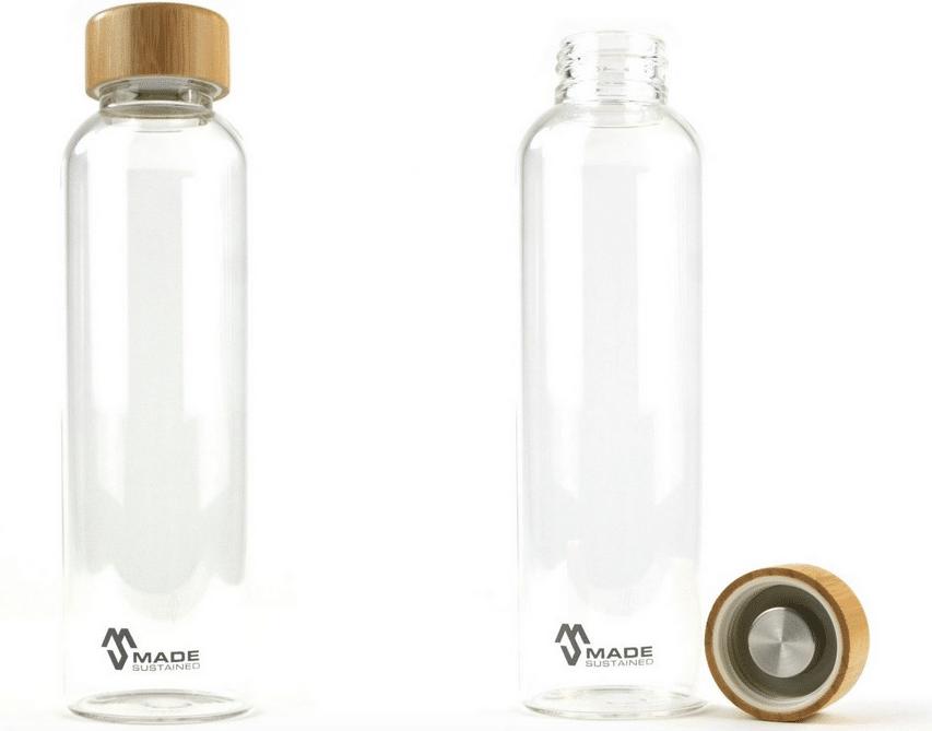 ekologická skleněná láhev made sustained