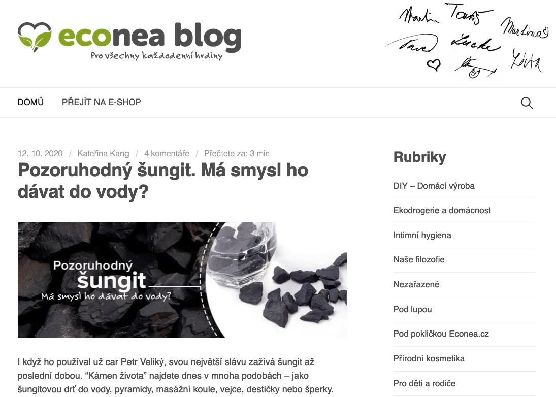 Econea blog