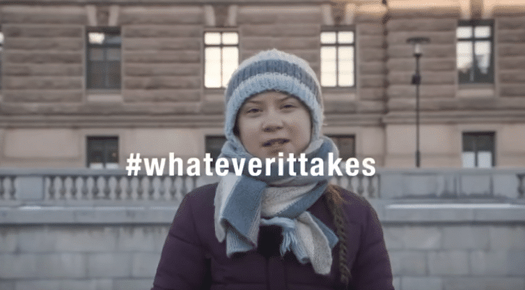 Greta Thunberg a její poselství Davosu
