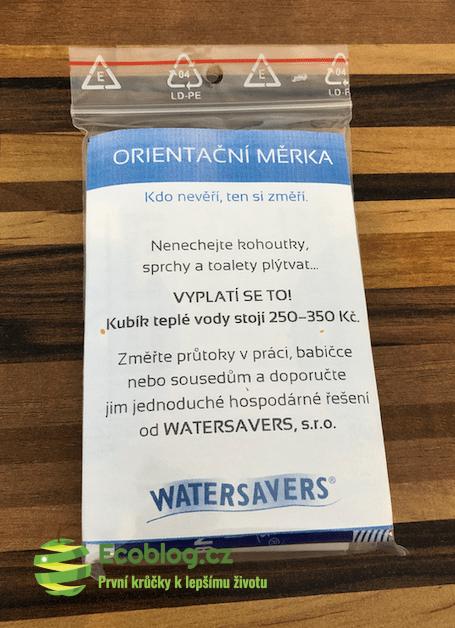 Econea recenze: Watersavers měrka na průtok
