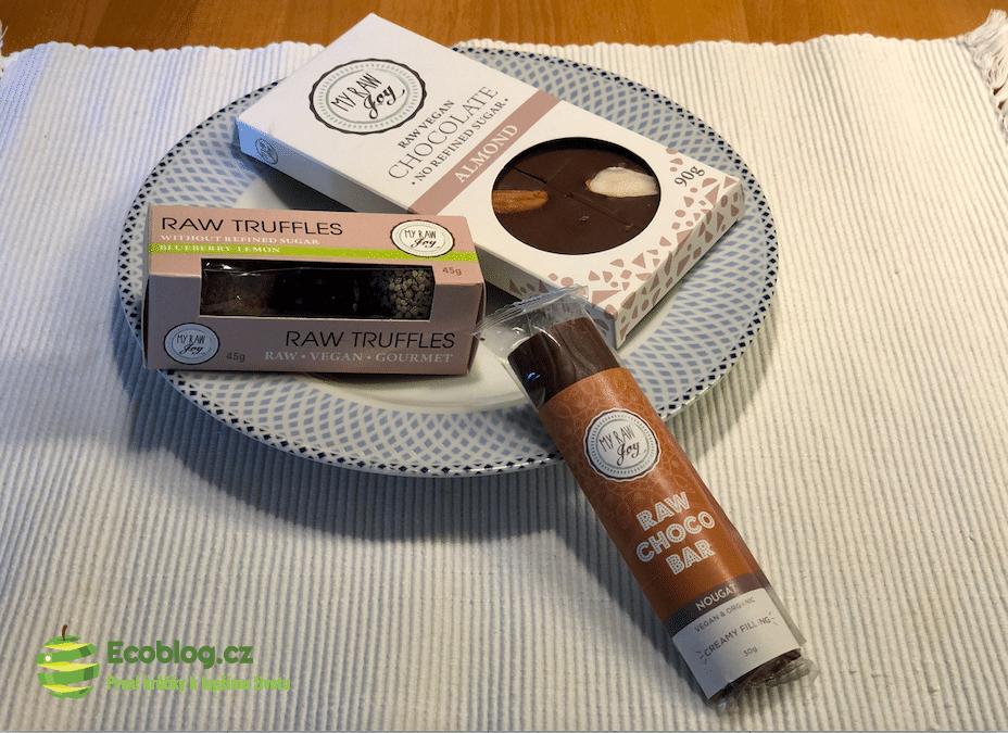 my raw joy mandlová čokoláda