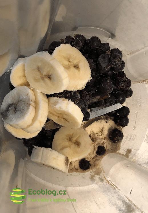 banán a borůvky
