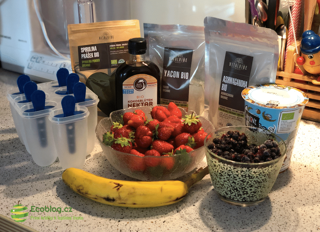 Recept: Zdravá zmrzlina – spirulina, yacon, ashwagandha a bio nektar